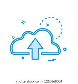 Upload icon design vector