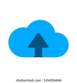 upload icon. flat illustration of upload. vector icon. upload sign symbol