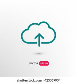 Upload icon vector