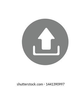 Upload Icon Vector Design Symbol Illustration