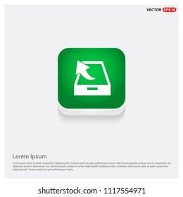 Upload icon.Green Web Button - Free vector icon