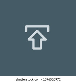 Upload vector icon. Upload concept stroke symbol design. Thin graphic elements vector illustration, outline pattern for your web site design, logo, UI. EPS 10.