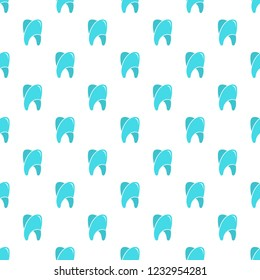 Upper tooth pattern seamless vector repeat for any web design