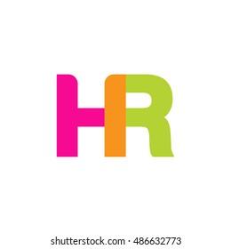 uppercase HR logo, pink green overlap transparent logo, modern lifestyle logo