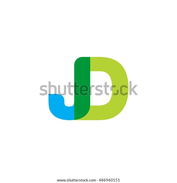 uppercase jd logo blue green overlap stock vector royalty free 486960151 shutterstock