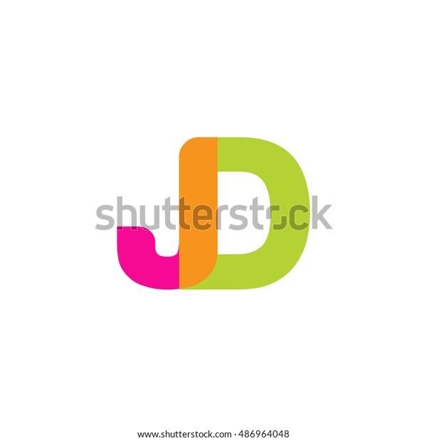 uppercase jd logo pink green overlap stock vector royalty free 486964048 shutterstock