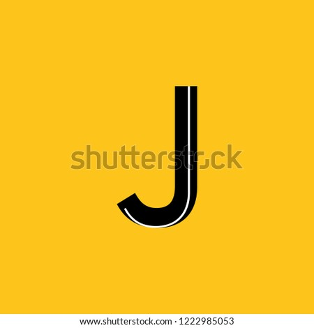 Uppercase Letter J Icon Skeleton Structure Stock Vector Royalty