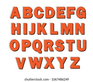 Uppercase letters of English alphabet