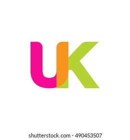 uppercase UK logo, pink green overlap transparent logo, modern lifestyle logo