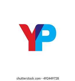 uppercase YP logo, red blue overlap transparent logo