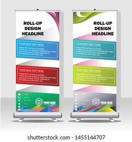 Upright banner designs that are attractive and suitable for various purposes