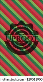 Uproot christmas badge background.