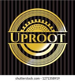 Uproot gold emblem or badge