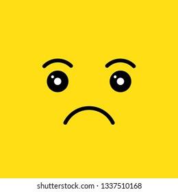 upset face vector illustration