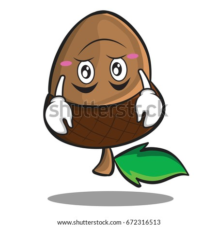 Upside Down Acorn Cartoon Character Style Stock Vector Royalty Free
