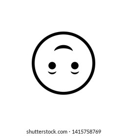 Upside Down Face, Silly, Sarcasm, Vector illustration