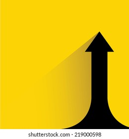 upside growing arrow chart