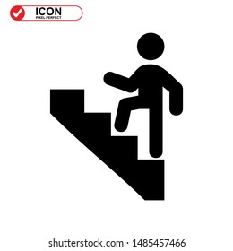 Upstairs icon isolated sign symbol vector illustration - high quality black style vector icons