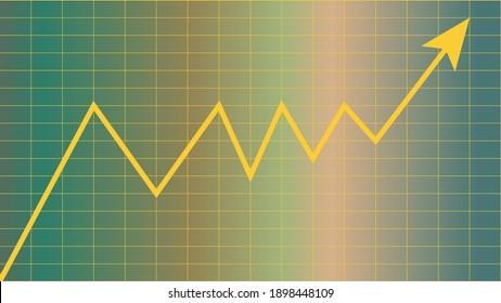 An upward trend line chart background image.