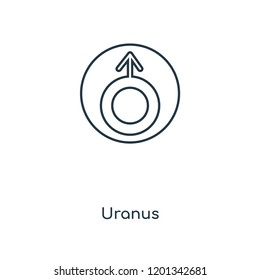 Uranus concept line icon. Linear Uranus concept outline symbol design. This simple element illustration can be used for web and mobile UI/UX.