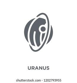 Uranus icon. Uranus design concept from Astronomy collection. Simple element vector illustration on white background.
