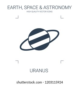 uranus icon. high quality filled uranus icon on white background. from earth space astronomy collection flat trendy vector uranus symbol. use for web and mobile