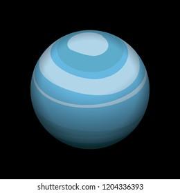 Uranus icon. Isometric of uranus vector icon for web design isolated