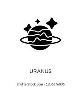 Uranus icon. Uranus symbol design from Astronomy collection.