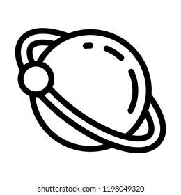 Uranus planet icon. Outline uranus planet vector icon for web design isolated on white background
