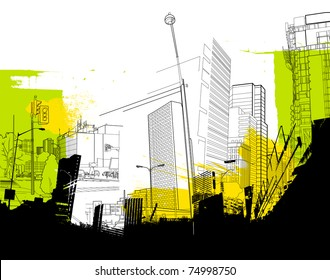 urban abstract collage