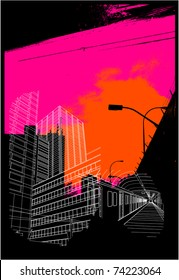 urban background collage