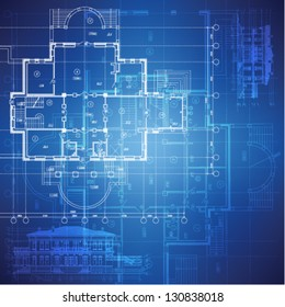 House blueprint images stock photos vectors shutterstock urban blueprint vector architectural background part of architectural project architectural plan malvernweather Choice Image