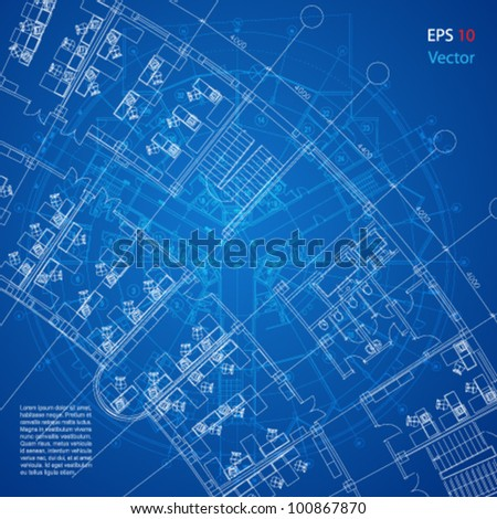 Urban blueprint vector architectural background part stock vector urban blueprint vector architectural background part of architectural project architectural plan malvernweather Gallery