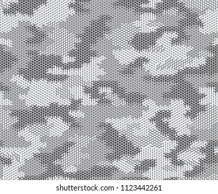 Urban camouflage seamless pattern. Geometric shapes and lines.