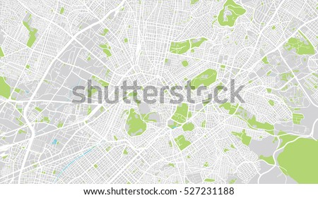 Urban City Map Athens Greece Stock Vector (Royalty Free) 527231188 on
