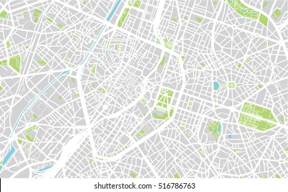 Urban city map of Brussels, Belgium
