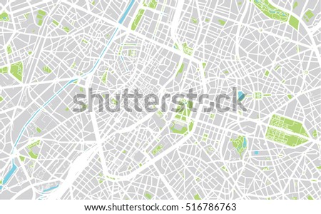 Urban City Map Brussels Belgium Stock Vector (Royalty Free ...
