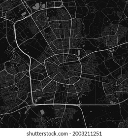 Urban city map of Eindhoven. Vector illustration, Eindhoven map grayscale art poster. Street map image with roads, metropolitan city area view.