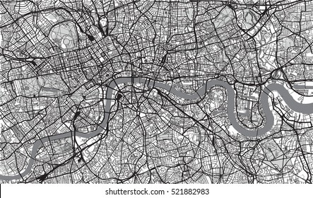 Urban city map of London