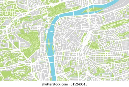 Urban city map of Prague