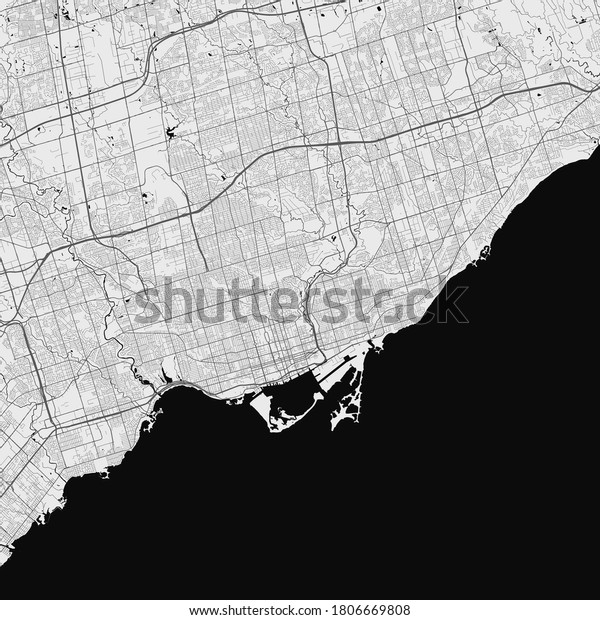 Urban city map of Toronto. Vector illustration, Toronto map art poster.