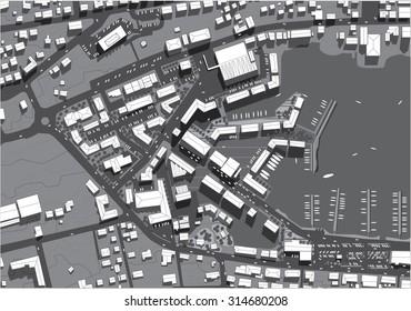urban city top view