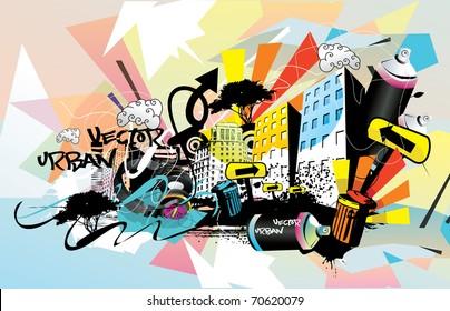 urban city vector illustration