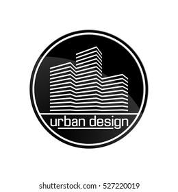urban design logo logotype building construction house label vector company