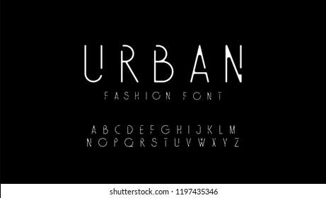urban fashion modern alphabet. designs for logo, Poster, Invitation, etc. Typography font uppercase. vector illustrator