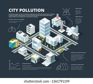 Urban infographic. Business concept people population megapolis transportation buildings street isometric city map vector infographic