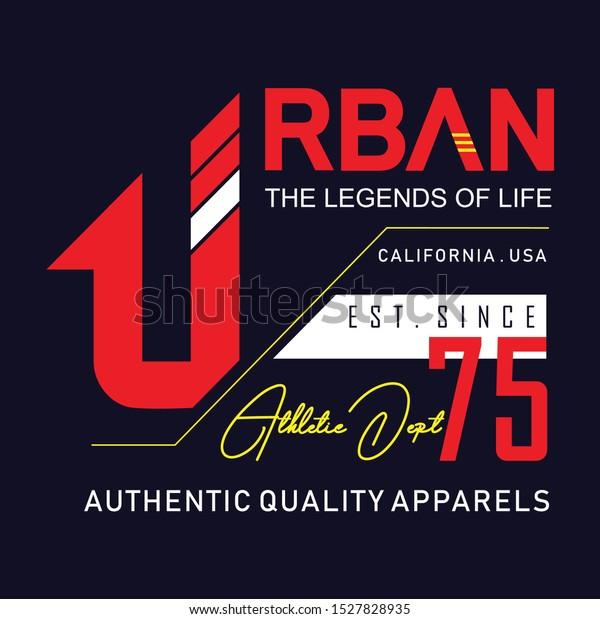 Urban Legends Life Typography Tshirt Graphics Stock Vector