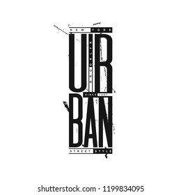 Urban New York City Typography. T-shirt print, label, badge, apparel, poster, banner. Grunge style. Elements for design.