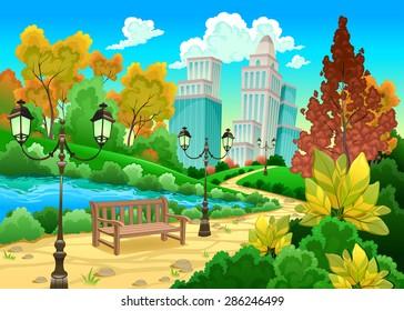 Garden Cartoon Images Stock Photos Amp Vectors Shutterstock