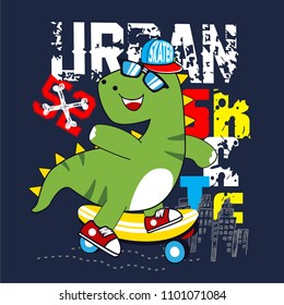 urban skate cartoon vector